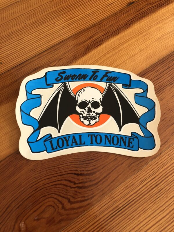 Vintage Sworn To Fun Loyal None Sticker Motorcycle Novelty Decal Harley Davidson