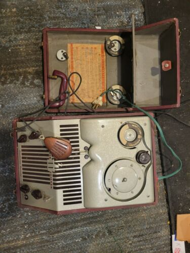 Antique Webster model 80-1 Wire Recorder RMA 375 with Reels For Parts or Repair