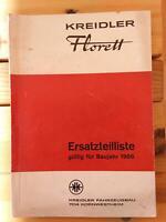 Kreidler Florett Ersatzteilliste 1966 Baden-Württemberg - Hohenfels Vorschau