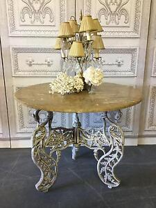 French Vintage Marble Cast Iron Swan Dining or Entrance Table Richmond Hawkesbury Area Preview