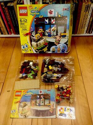 Lego 3833 Krusty Krab Adventures Set Complete Minfigure SpongeBob SquarePants
