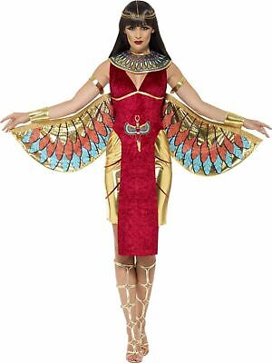 Egyptian Queen Goddess Isis Ladies Fancy Dress Costume Party Outfit (Egyptian Goddess Isis Costume)