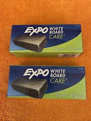 Expo Block Eraser 81505 Dry Erase Whiteboard Board Eraser Soft Pile Lot 2