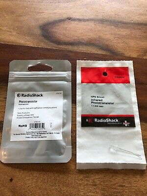 New Radioshack Phototransistor Fototransistor 30v T-1-34 Case 276-0145 Qty 2