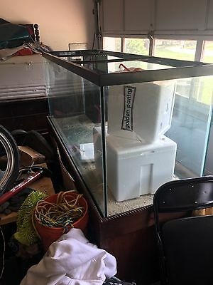 Saltwater fish aquarium 215/220 gallon tank and stand custom made