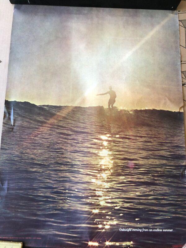 Vintage 1968 Surfer Magazine Surfing Poster Outasight Evening Endless Summer
