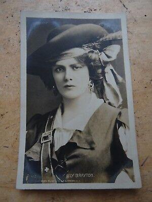 Vintage Edwardian Actress Photo Postcard Lily Brayton
