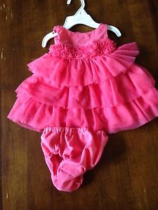 Lot of 4 girls summer outfits. 3-6 mths