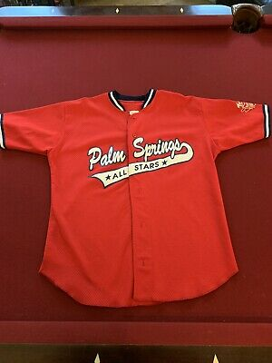 Rare Palm Springs All Stars Baseball Jersey Red Men's Size Large