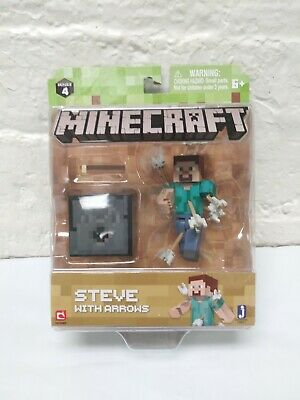 Minecraft Series 4 Steve With Arrows Toy Action Figure NIB