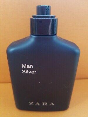 Zara Man Silver Perfume 100ml 3.4 oz Made In Spain