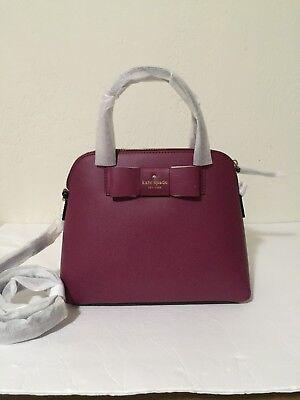 Kate Spade Robinson Street Maise Satchel Rioja Bow Leather Crossbody Bag