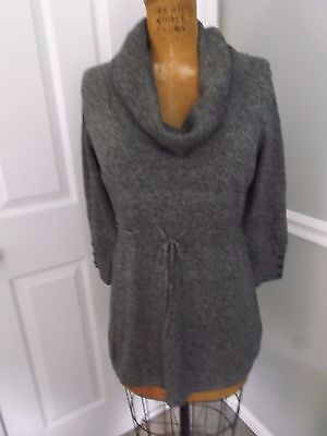 MOTHERHOOD OH BABY MATERNITY GRAY COWL NECK 3/4 SLEEVE SWEATER -SIZE SMALL - NWT