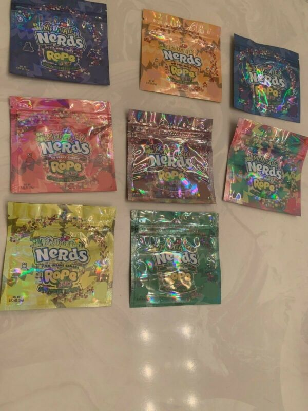 NERDS ROPES BITES (100) Empty Packaging Bags - NEW 8 Flavors HOLOGRAPHIC🌟