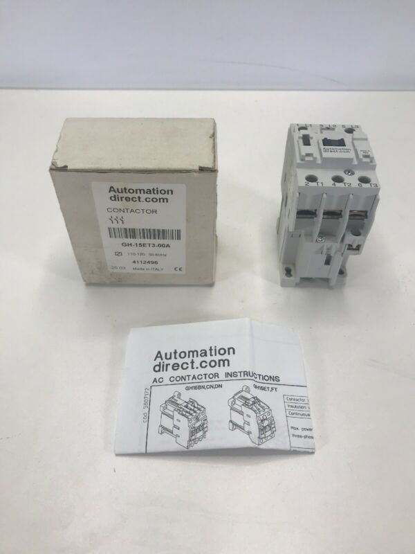 Automation Direct Contactor GH-15ET3-00A   110-120  50-60 Hz  4112496 NEW