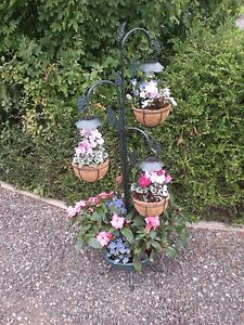 Solar Tree Cascade / 3 Tier Basket Planter