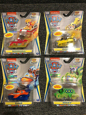 NEW! Nickelodeon Paw Patrol Mighty Pups Charged Up Toys True Metal (4) vehicles