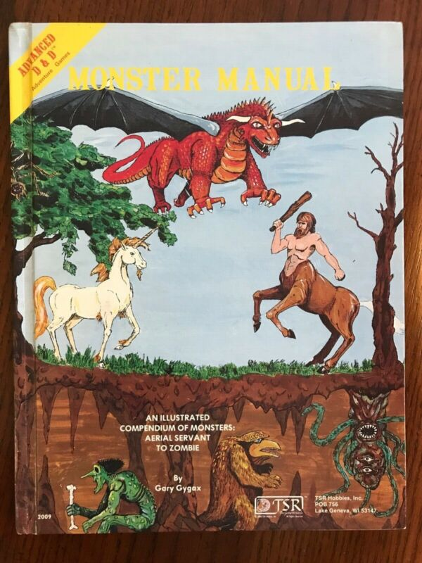 Dungeons and Dragons Monster Manual 1st Gary Gygax 4th Print TSR 1979