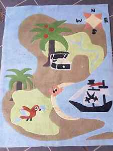 Kids pirate theme rug 102cm x 130cm Burwood Heights Burwood Area Preview