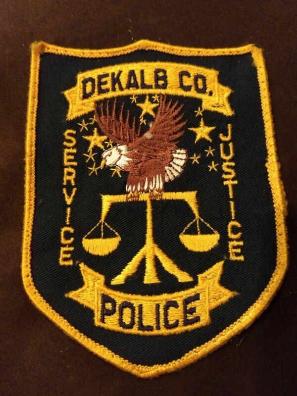 Vintage Dekalb County Georgia Police Patch - Excellent Condition Uniform Takeoff