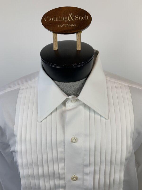 Brooks Brothers 16.5x33 Regular Fit Golden Fleece White Tux Dress Shirt No Iron