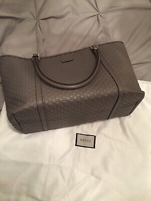 gucci grey guccissima tote bag