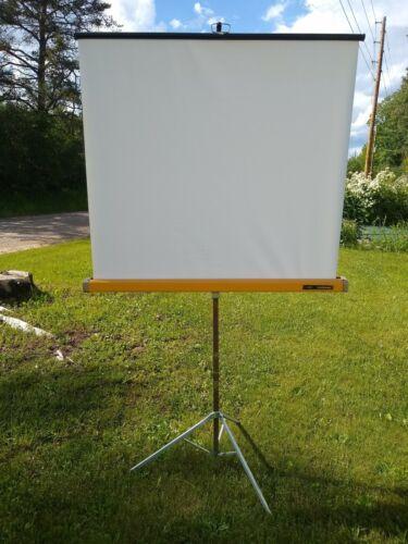 "Vtg Knox Panorama Projector Slide Screen Movie Film Tripod 40"" x 39"""