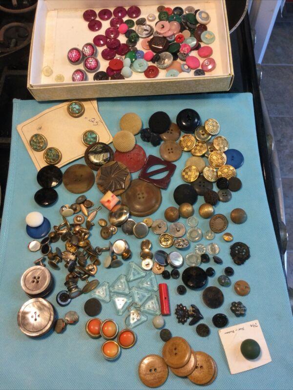Huge Estate Lot of Antique Vintage Buttons - Some Match Sets - Big Variety