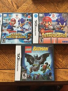Mario and sonic and LEGO Batman DS games.