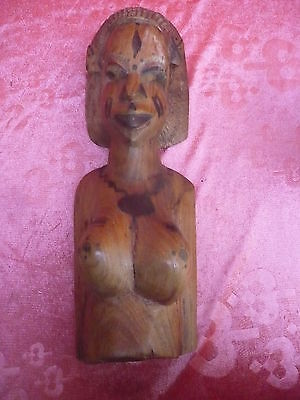 antique wooden figure __ Bust__Africa __42cm__ More Than 2,2kg__