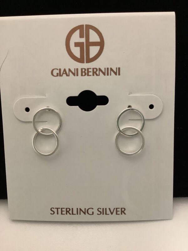Giani Bernini Sterling Silver Double Circle Stud Earrings