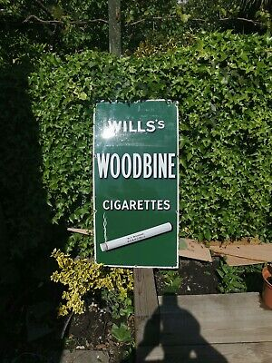 Original Vintage Wills Woodbine cigarettes Enamel Sign