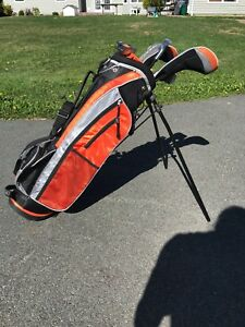 Youth golf clubs and bag
