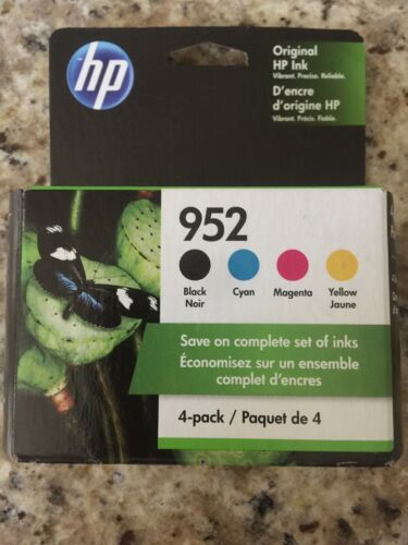4-PACK HP GENUINE 952 Black Color Ink Retail Box OFFICE Jet PRO 8710 8715 New - $51.00