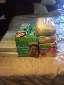 Pampers baby dry size 3 + Pampers easy ups 2-3