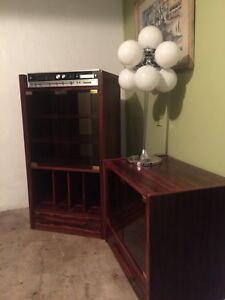 Mid century modern danish rosewood stereo cabinet & tv Stand