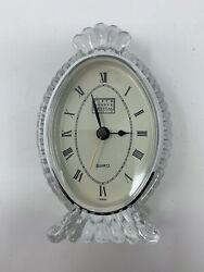 Fifth Avenue Crystal Ltd Century Crystal Clock 5 1/2 Tall