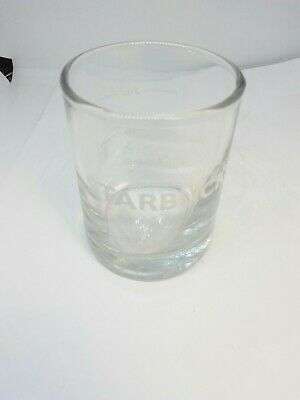 Starbucks 1 oz and 2 oz Marked Espresso Shot Glass Clear Glass whote lettering