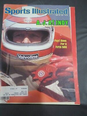 1981 INDY 500 AJ FOYT SPORTS ILLUSTRATED MAGAZINE