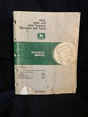 John Deere 4055 4255 4455 Tractors Operation Tests Tech Manual Tm1459 1190