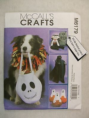 Pet Collar Ghost Pumpkin Halloween Sewing Pattern M6179 See Full Listing Info (List Halloween Costumes)