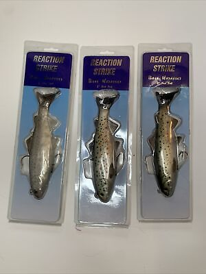 """Reaction Strike 7/"""" Slow Fall Bass Harasser Swimbait Lot 7-BHS-CT Calif Trout 3"""