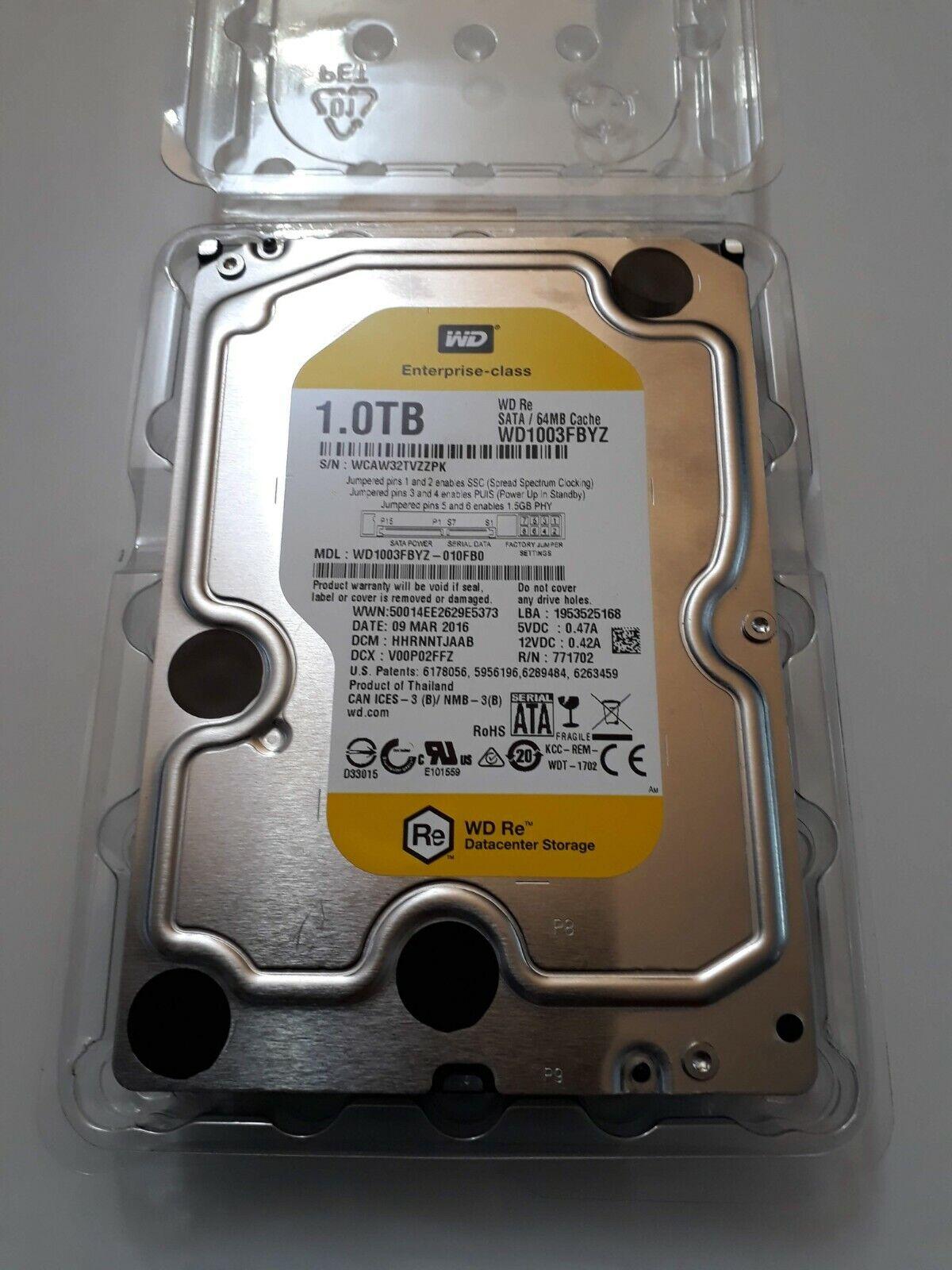 Western Digital Enterprise Class WD1003FBYZ 1TB Festplatte 7,2k RPM 64MB Cache