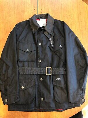 Rare NWT Barbour Deus Ex Machina Collaboration Black Motorcycle Jacket Sz M $400