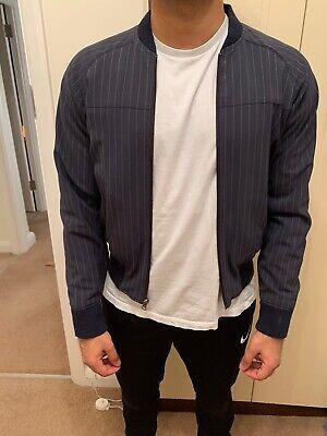 GAP Vintage Men's Navy Bomber Jacket Size XS