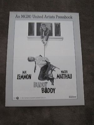 1981 16 page pressbook Buddy Buddy Jack Lemmon Walter Matthau Paula Prentiss