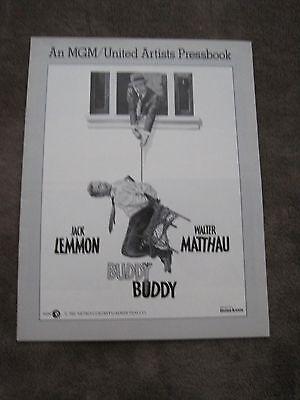 RARE 1981 16 pg pressbook Buddy Buddy Jack Lemmon Walter Matthau Paula Prentiss