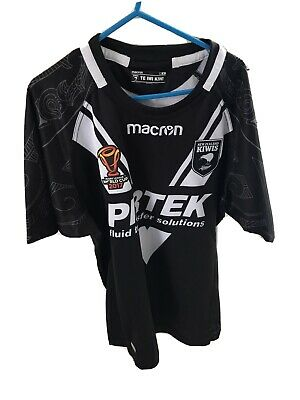 New Zealand NZ Shirt Jersey Kiwis NRL Macron M Medium Rugby League