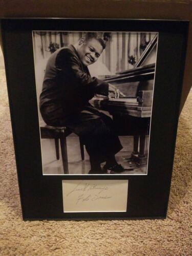 Rock N Roll Legend Singer FATS DOMINO Framed Matted Signed Autographed Photo COA - $59.99