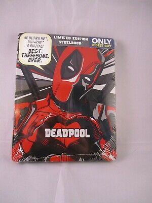 Deadpool 4K UHD Blu-ray digital Steelbook Limited Edition Best Buy Exclusive NEW